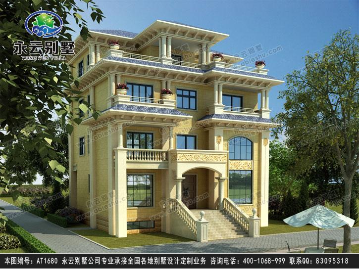 永云别墅at1680复式四层豪华私人别墅设计图纸13mx12.