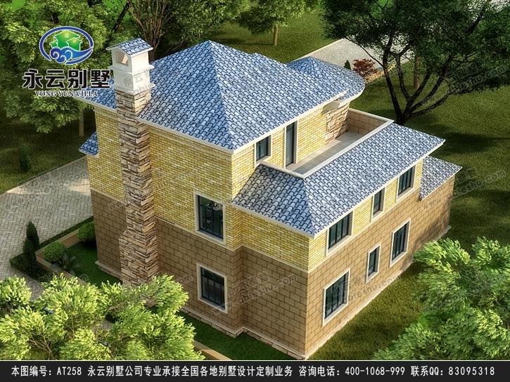 永云别墅at258三层高端豪华欧式别墅建筑设计图纸14mx