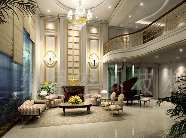 复式楼客厅装修方案效果图