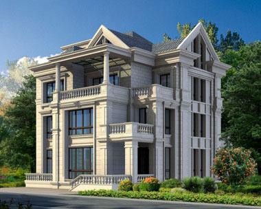 两套法式豪华三层别墅外观效果图欣