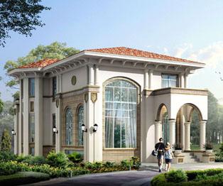 豪华大气欧式风格别墅外观效果图