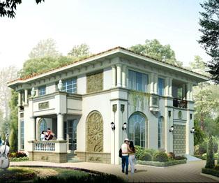 高端华丽欧式风格别墅外观效果