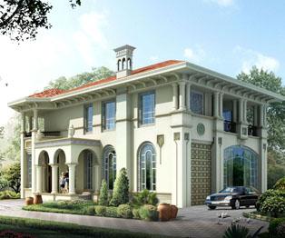 纯欧式漂亮别墅外观效果图
