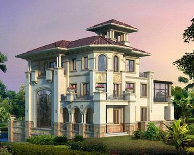 美丽清晰大方得体别墅图