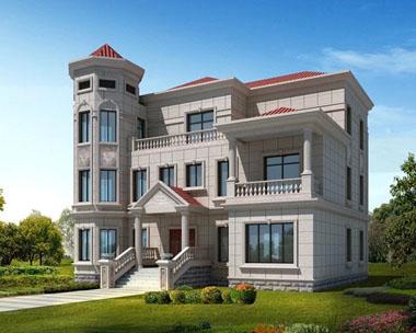 欧式风格三层别墅效果图