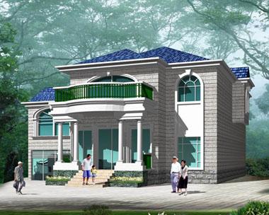 农村自建房二层欧式别墅图
