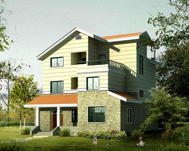 建设新农村住房欧式三层别墅图