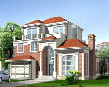 规划新农村建设代表型房屋建筑图