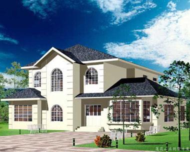简欧风格二层大型别墅设计效果图