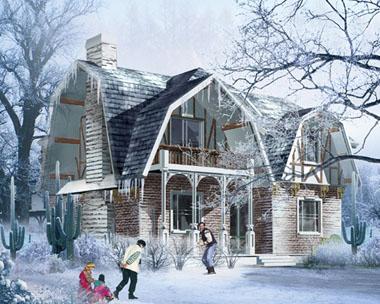 北方抗寒冷独特别墅设计效果图