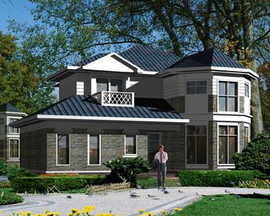 二层独特私家别墅效果图设计