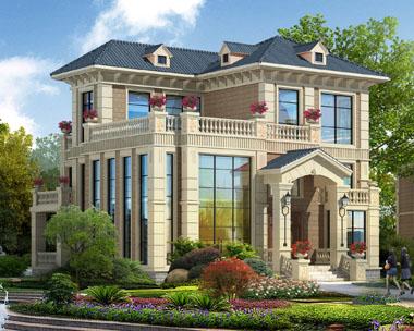 三层现代欧式漂亮别墅效果图
