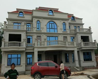邵阳朱总豪华高端双拼复式别墅设计施工实建案例