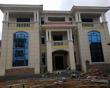 【实建案例】江西吉安李先生设计的兄弟双拼别墅实建案例欣赏