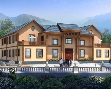 AS101株洲茶陵县凌先生二层现代中式四合院别墅案例图