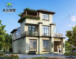 新亚洲风格三层别墅设计图纸,一起感受中西结合的建筑韵味