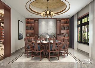 湖南攸县刘总别墅中式装修案例,优雅贵气,特别舒适