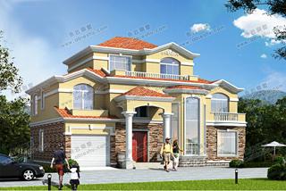 时尚户型17x13别墅设计图分享,第二款含双落地窗,豪华舒适。