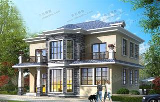 精品6款农村25万元二层小楼图,美观实用,一般家庭都建得起。