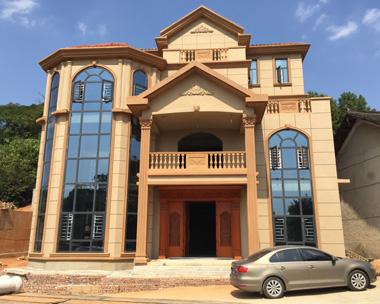 娄底彭女士定制设计欧式四层豪华别墅实建施工案例图欣赏