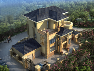 经典12米11米三层别墅图纸,农村建房首选,三层代表之作。