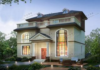 13米x9米建房图纸,简约欧式风,复式客厅,农村建房首选