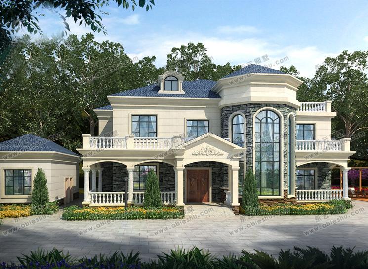 8套时尚农村2层楼房设计图,  喜欢哪款就建出来,给家人更美好的生活