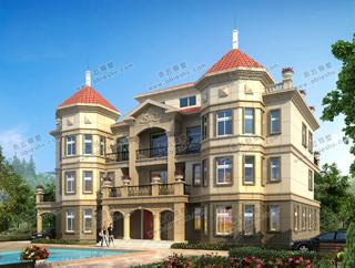 豪华农村3层半楼房设计图5款,最后一款开间26米,石材干挂外装太霸气了