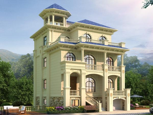 荆州朱女士带架空层私人小户型乡村别墅案例图欣赏