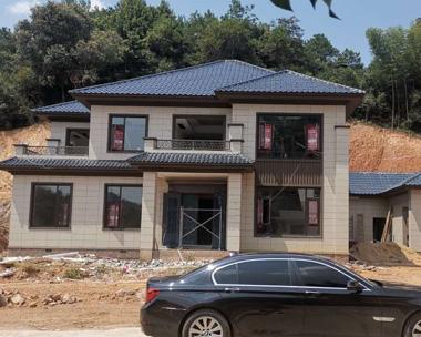 株洲市宾总二层新中式别墅建筑施工实建案例效果欣赏