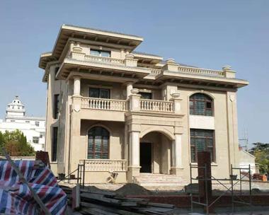 江苏盐城沈宅豪华大气欧式三层别墅设计施工实建案例欣赏