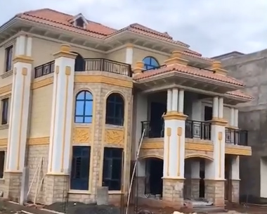 AT1817三层简欧风格复式楼私人豪华别墅施工实建案例效果