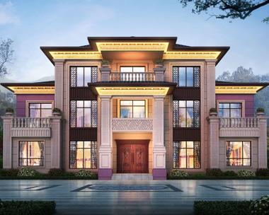 【设计案例】河北保定田先生占地300平米三层新中式别墅图欣赏