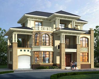 【设计案例】萍乡何先生占地168平三层欧式别墅设计图欣赏