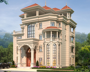 江西南昌朱总私人定制五层欧式豪华别墅设计案例图欣赏