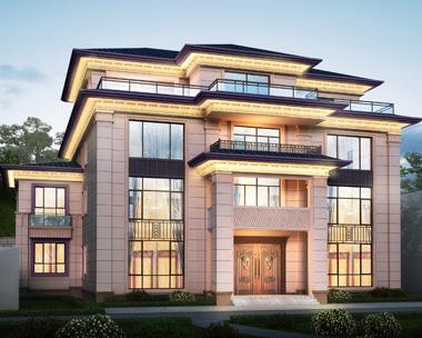 贵州瓮安县金总占地300四层漂亮别墅建筑设计案例图欣赏