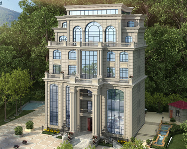 益阳安化付总七层私人会所豪宅别墅建筑设计案例图欣赏