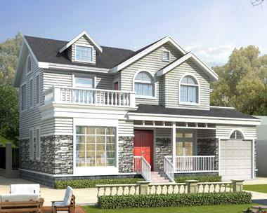 岳阳县龚先生二层美式风格占地215平米的优雅别墅设计图欣赏