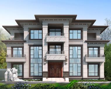 永州全总占地220平米带地下室兄弟共建新中式别墅案例图欣赏