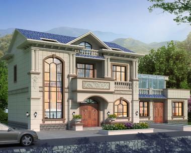 江苏无锡黄先生简欧两层带阁楼私家小别墅设计案例(首层面积170平米)