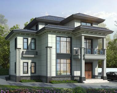永州新中式风格三层小户型别墅设计案例图欣赏