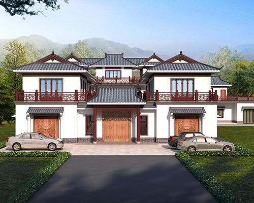 【设计案例】岳阳周先生三层中式风格四合院别墅设计图欣赏