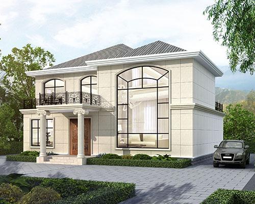 【设计案例】株洲肖女士占地160平米简约大方二层别墅设计欣赏