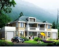 [永云别墅]AT275二层双拼别墅设计建筑结构施工图纸上27m×15.6m