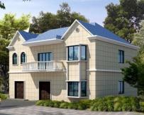 [永云别墅]AT801简洁大气二层带地下室房屋设计图含结构及效果图13m×10m