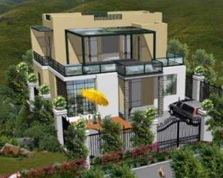 [永云别墅]AT266二层现代风格豪华别墅设计施工图纸11m×9m