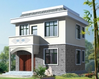 AT216两层新农村自建别墅房屋设计施工图纸 简约实用