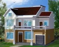 AT363二层新农村简约大气小别墅建筑设计图纸11m×12m