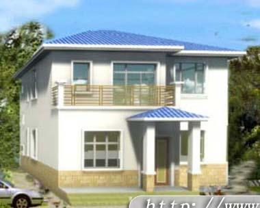 687二层新农村小别墅全套设计图纸10m×12m