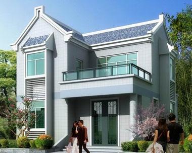 [永云别墅]AT205新农村二层别墅L形带晒台全套设计图纸8mX9.7M